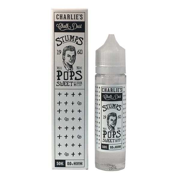 STUMPS POPS  - SWEET AND SOUR MELON - CHARLIES CHALK DUST 50ml SHORTFILL