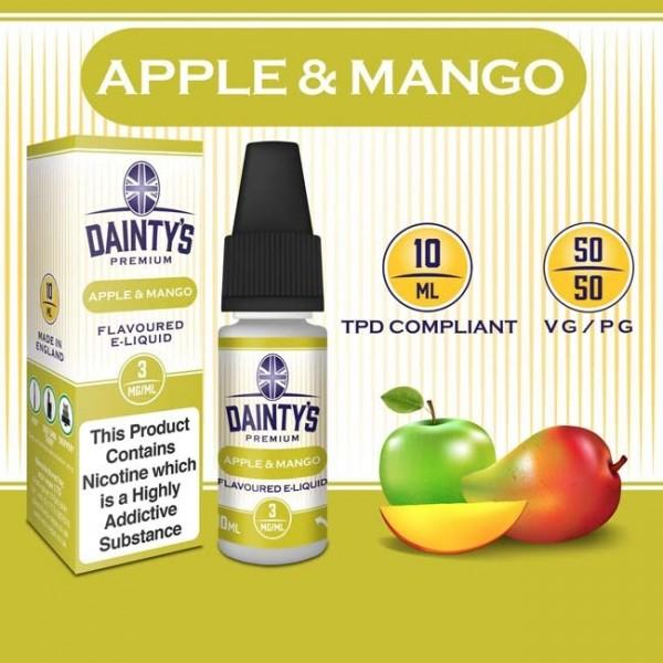 DAINTY'S 10ml - APPLE AND MANGO 50/50 E-LIQUID