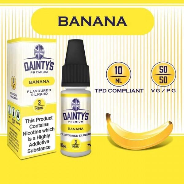 DAINTY'S 10ml - BANANA 50/50 E-LIQUID
