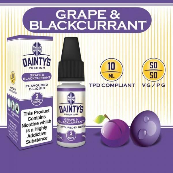 DAINTY'S 10ml - GRAPE AND BLACKCURRANT 50/50 E-LIQUID