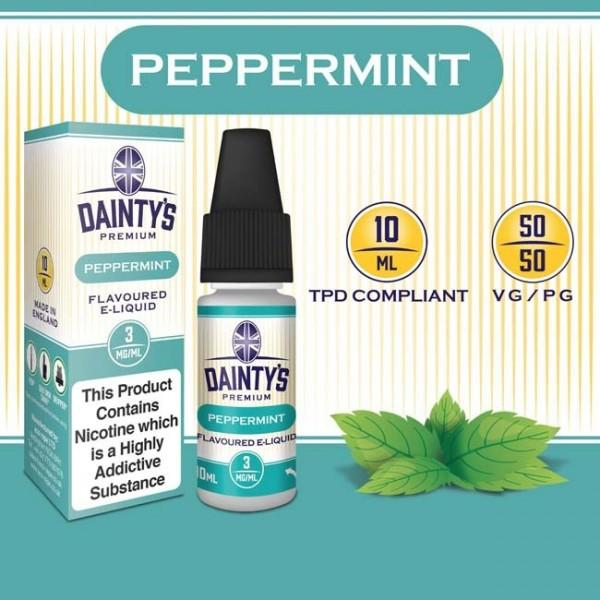 DAINTY'S 10ml - PEPPERMINT 50/50 E-LIQUID
