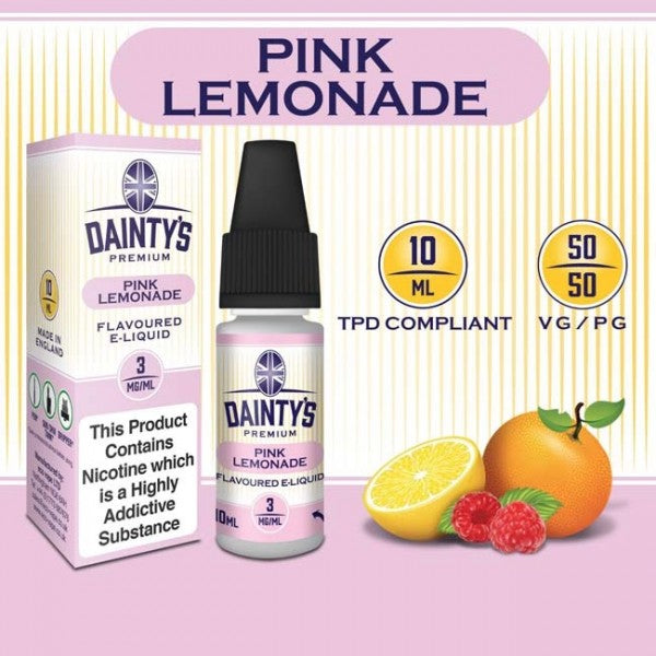 DAINTY'S 10ml - PINK LEMONADE 50/50 E-LIQUID