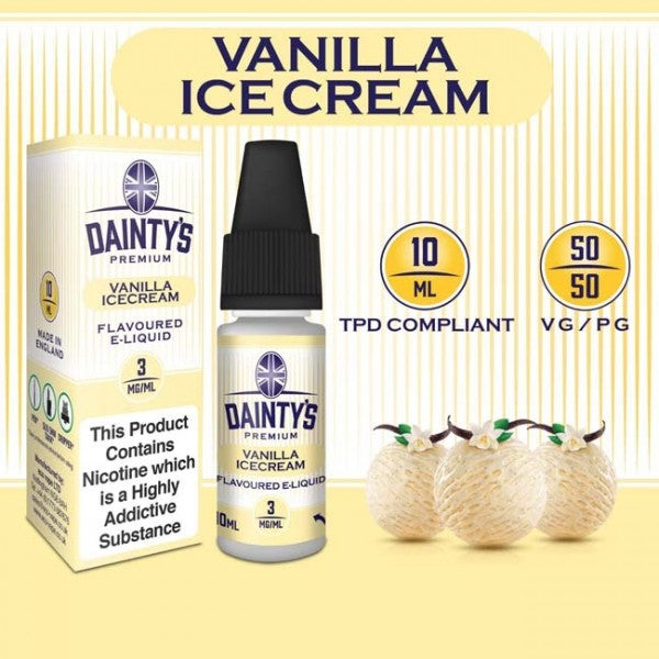 DAINTY'S 10ml - VANILLA ICE CREAM 50/50 E-LIQUID