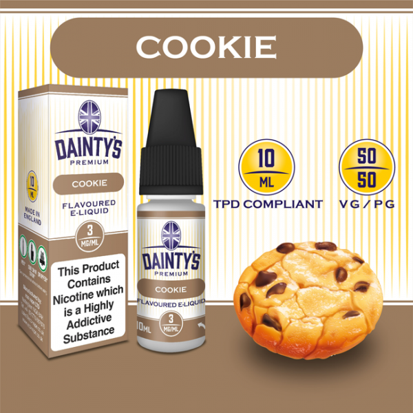 DAINTY'S 10ml - COOKIE 50/50 E-LIQUID
