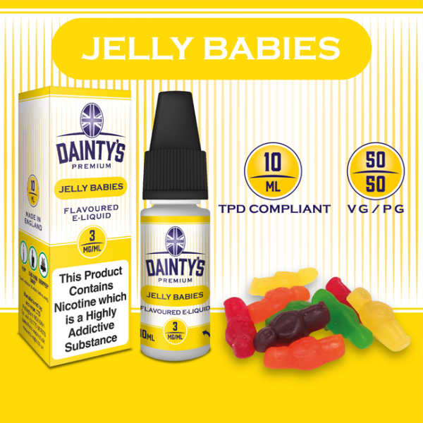 DAINTY'S 10ml - JELLY BABIES 50/50 E-LIQUID