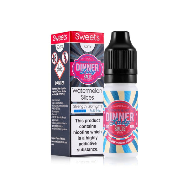 DINNER LADY NIC SALT - WATERMELON SLICES 10ml