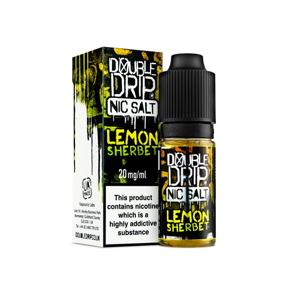 DOUBLE DRIP NIC SALT - LEMON SHERBET 10ml