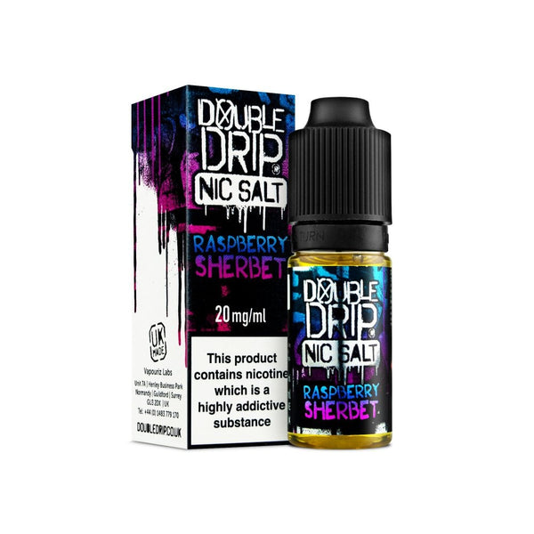 DOUBLE DRIP NIC SALT - RASPBERRY SHERBET 10ml