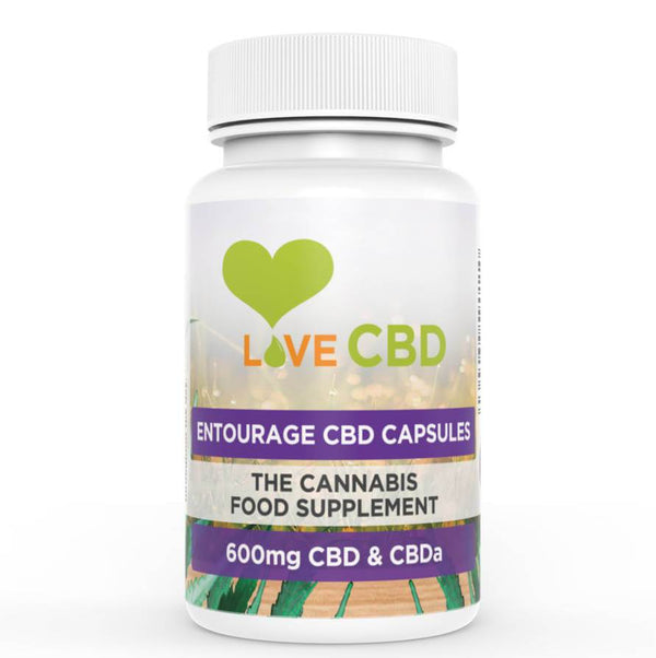 LOVE CBD - 600mg ENTOURAGE CBD OIL CAPSULES - 60 x 10mg CAPSULES