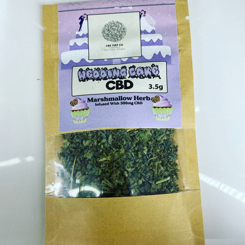 WEDDING CAKE 300mg CBD INFUSED MARSHMALLOW HERB 3.5g - CBD TERP CO