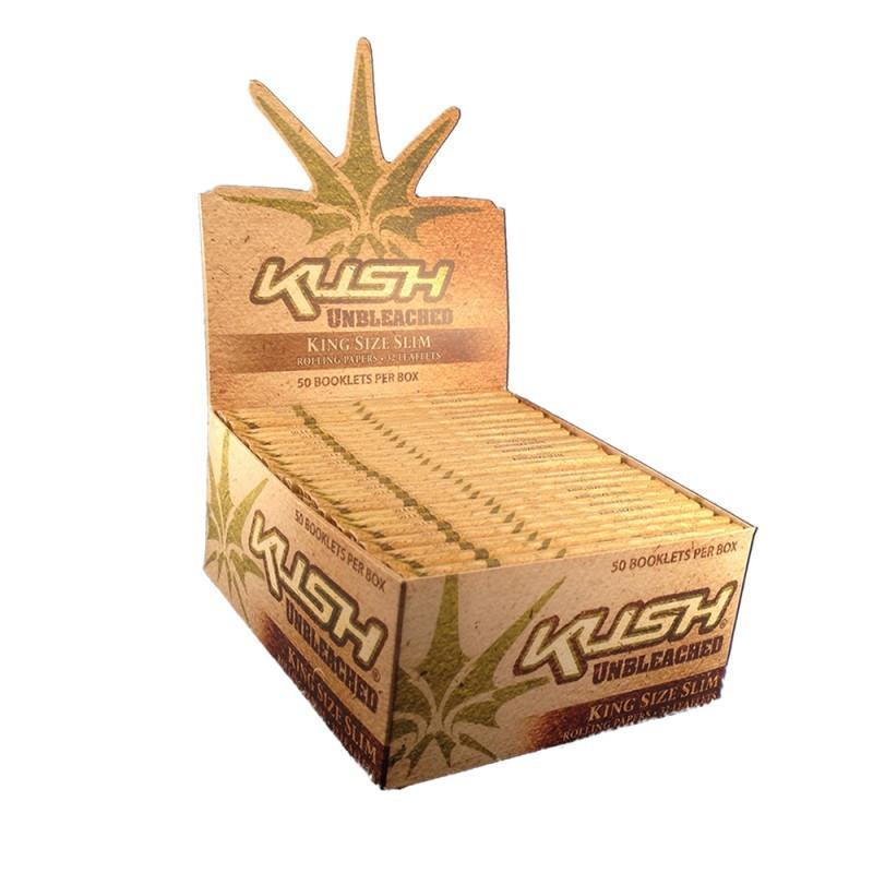 KUSH UNBLEACHED KINGSIZE SLIM ROLLING PAPERS
