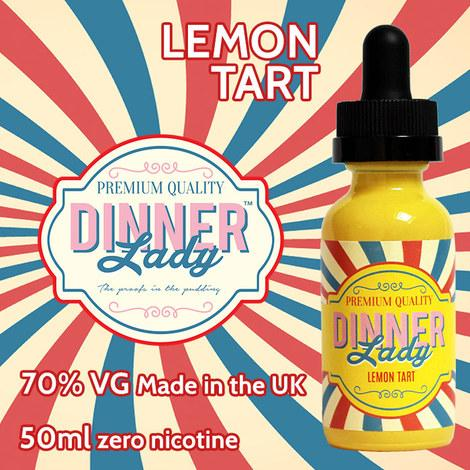 DINNER LADY - LEMON TART 50ml SHORTFILL 0mg E-LIQUID