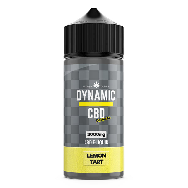 DYNAMIC CBD DESSERTS 100ml E-LIQUID - LEMON TART 2000mg