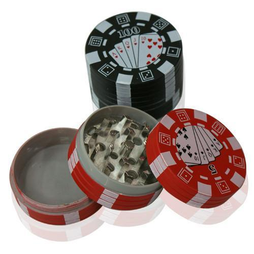 POKER CHIP 3PIECE 40mm METAL GRINDER