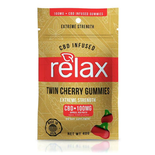 RELAX CBD GUMMIES - TWIN CHERRIES - 100mg CBD