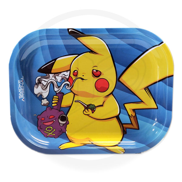 DANKACHU - PIKACHU POKEMON METAL ROLLING TRAY SMALL BY SMOKE ARSENAL