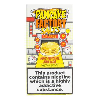 PANCAKE FACTORY - WHITE CHOCOLATE SNIKKERS 20mg NICOTINE SALT 10ml
