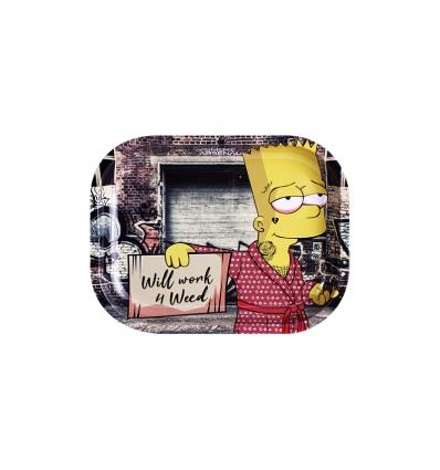 WILL WORK FOR WEED - BART SIMPSON ROLLING TRAY