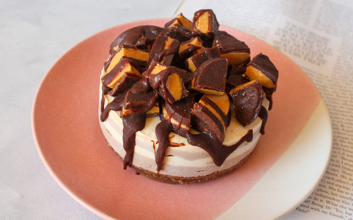 Salted Peanut Butter Choc-Hazelnut Cheesecake