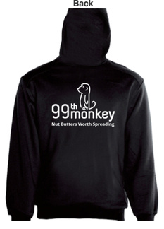 99th Monkey ladies hoodie