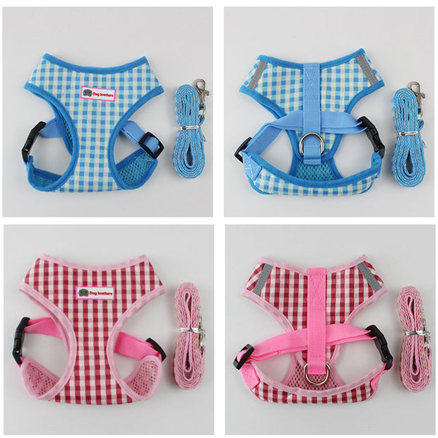 Puppy vest with leash and harness