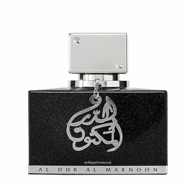 AL DUR AL MAKNOON SILVER WOODY FRUITY PERFUME BY LATTAFA