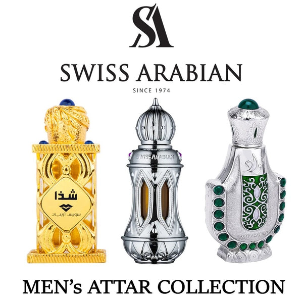 JAWAD, ATTAR MUBAKHAR & SHADA CPO COLLECTION FOR MEN BY SWISS ARABIAN