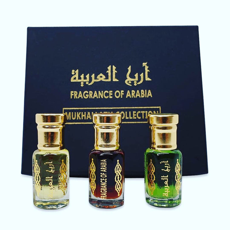 Zahra Al Khaleej,Mukhallath hajr,Golden Musk Collection Of Three Oils High Quality