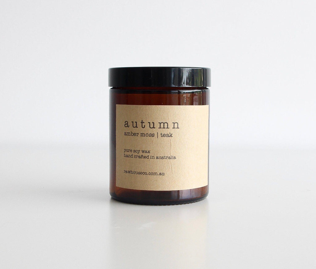 AUTUMN: AMBER MOSS | TEAK SOY CANDLE