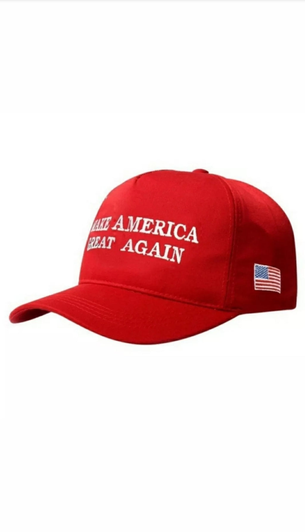 Donald Trump MAGA Hats in Black,white, and classic Red