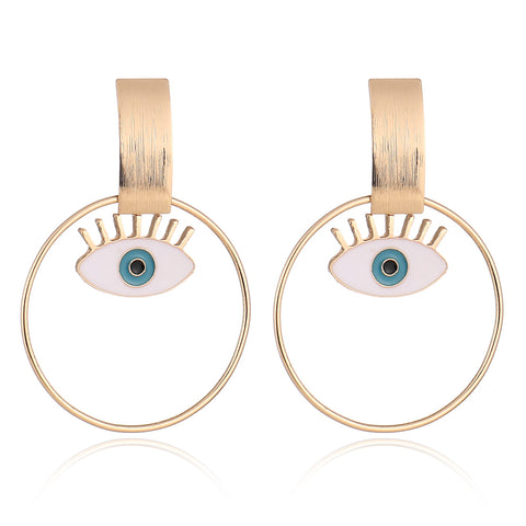 Street Style Evil Eye Statement Earrings - socialblingz