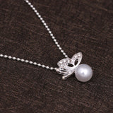 Elegant Butterfly Simulated-Pearl Jewelry Set