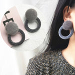 Minimalist Temperament Vintage Plush Ball Stud Earrings - socialblingz
