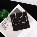 Big Hollow Loop Earrings - socialblingz