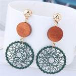 Hollow Long Mesh Drop Statement Dangle Earrings - socialblingz