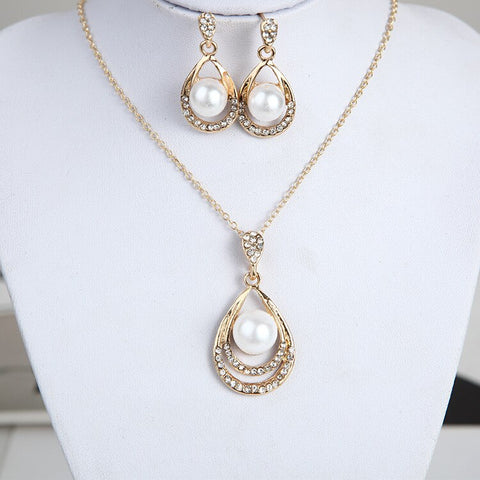Water Drop Chokers Necklace Jewelery Set