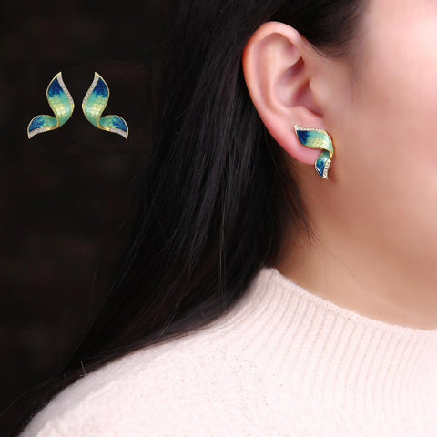 Butterfly Studs With Open Wings Earrings