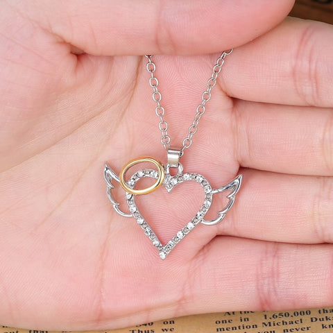 Cute Angel Heart Pendant Necklace