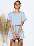 Casual Bat Sleeve Loose Rompers - socialblingz
