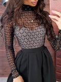 See Through Mesh Gauze Black Maxi Dress - socialblingz