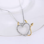 Cute Demon Heart Pendant Necklace