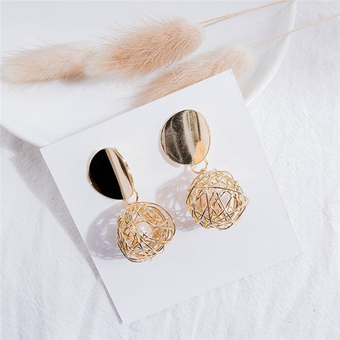 Wool Ball Crazy Earring - socialblingz