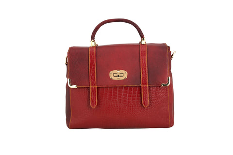 Grandiose Leather Bag - socialblingz