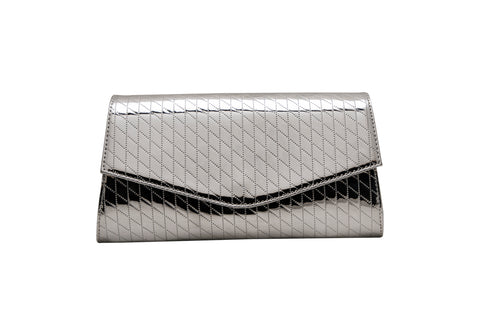 Metallic Cross Print Clutch - socialblingz