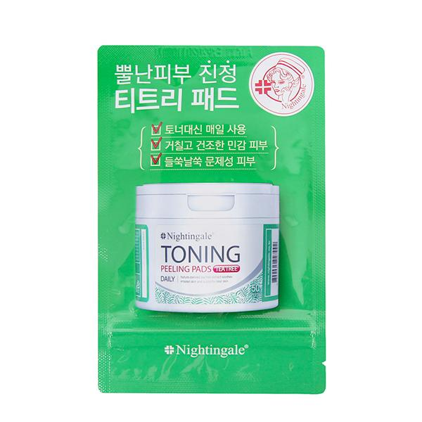 Toning Peeling Pads Tea Tree (10pads) Nightingale
