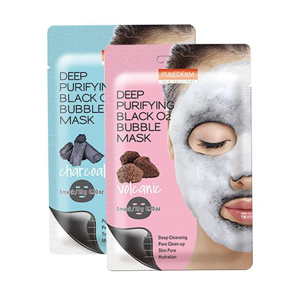 Deep Purifying Black O2 Bubble Mask (1 Sheet) PUREDERM  ?id=12085484945487