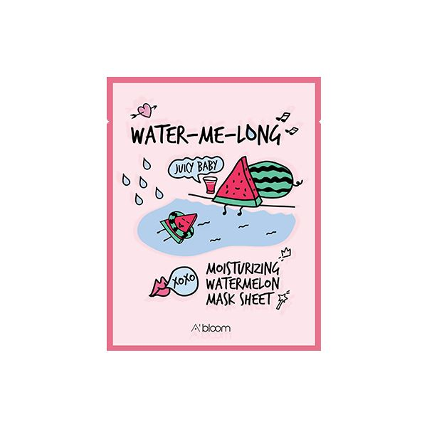 Water-Me-Long Moisturizing Watermelon Mask (1 Sheet) A'BLOOM