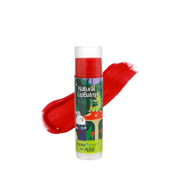 Natural Lip Balm with Alice (4.8g)_Vivid Red PUREFORET