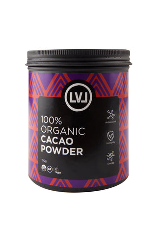 LVL 100% Organic Cacao Powder Front