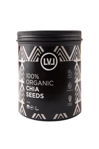 LVL 100% Organic Chia Seeds Front